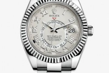Top quality rolex sky dweller white gold replica watch for sale