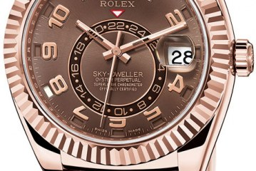 Replica Rolex Sky-Dweller Brown Dial Rose Gold Watches ref.326935