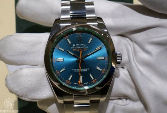 40mm Z Blue Dial Rolex Oyster Perpetual Milgauss Replica Watch Ref.116400GV
